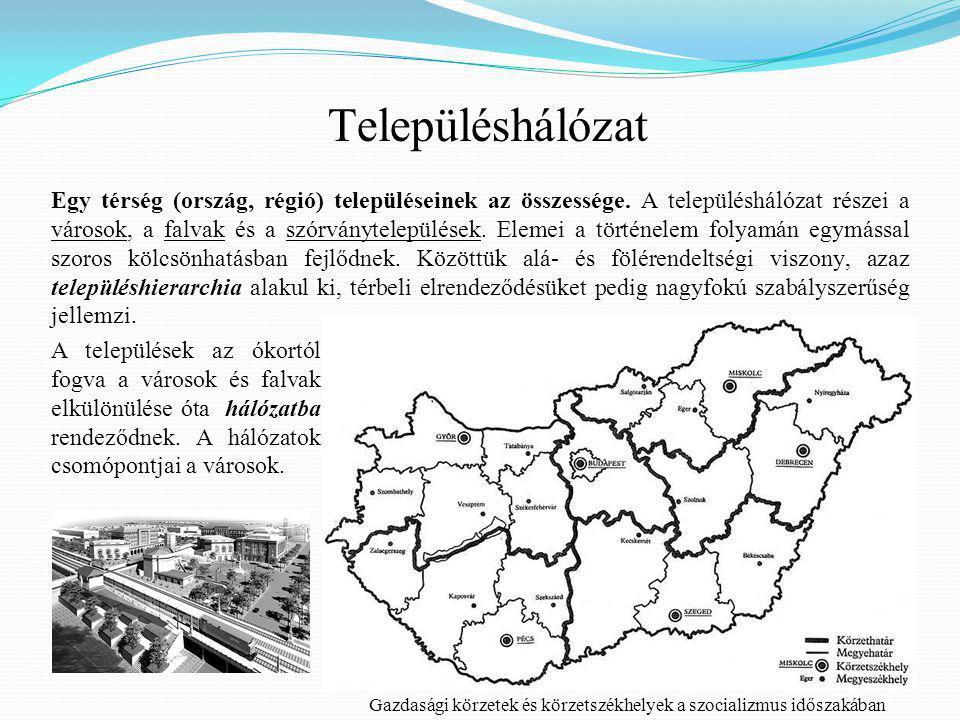 Egy térség (ország, régió) településeinek az összessége.