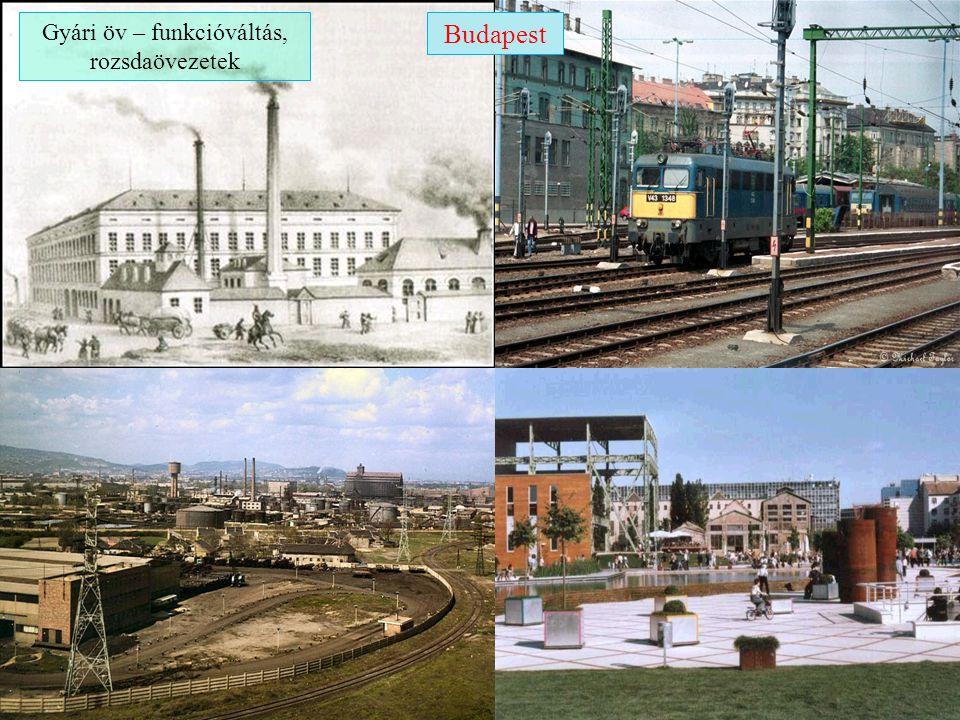 Budapest ipari körzetei az 1970-es évek elején Forrás: Süli-Zakar István, Szerk.: Németh Gábor
