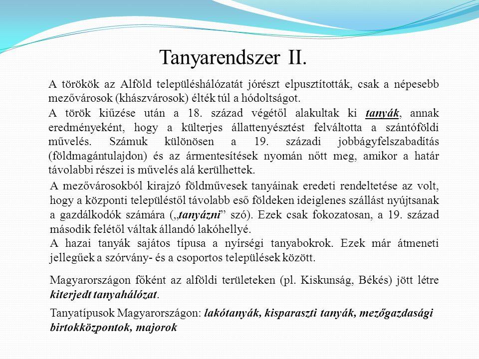 Tanyarendszer II.