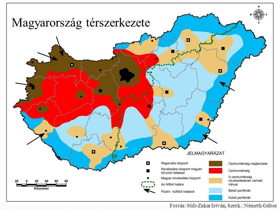 Magyarország térszerkezete Forrás: Süli-Zakar István, Szerk.: Németh Gábor