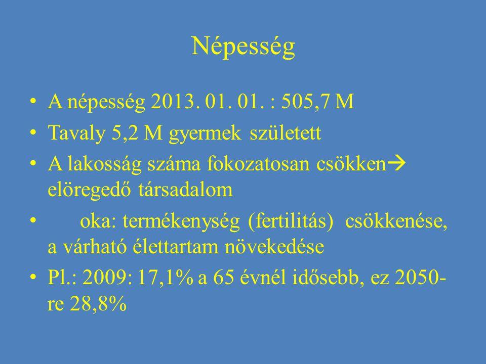 Népesség A népesség 2013. 01. 01.