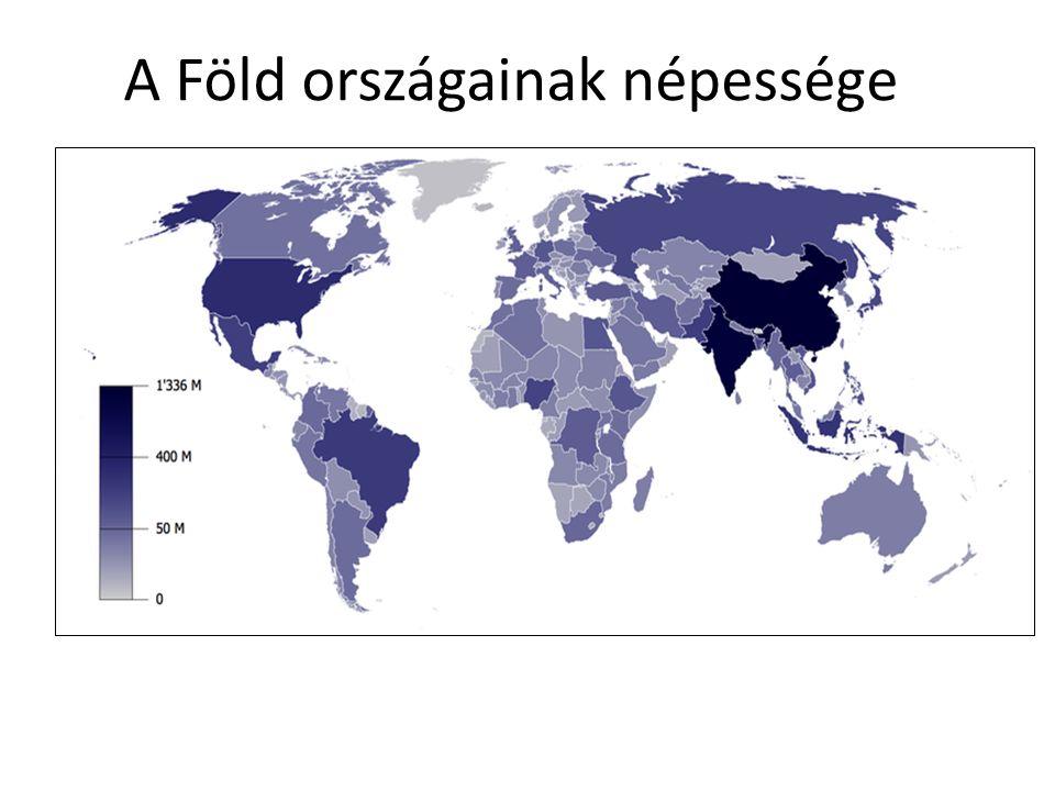 A Föld országainak népessége