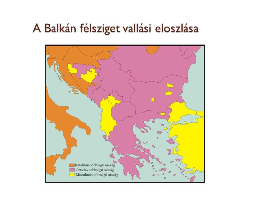 A Balkán félsziget vallási eloszlása