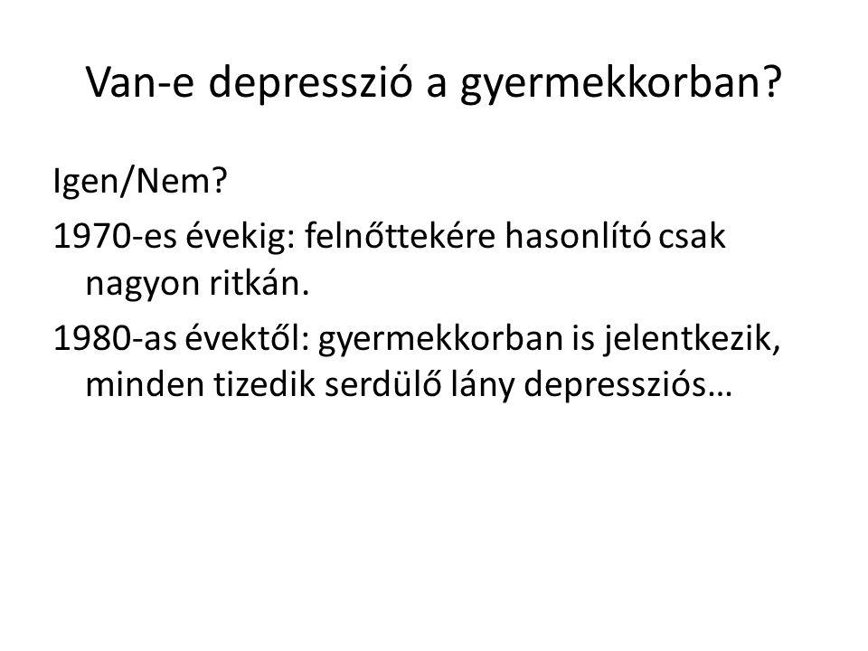 """Depresszív tünetek a különböző életkorokban - csecsemőkor Nyűgösség Excesszív sírás, """"ok nélküli sírás Rossz alvás Étvágytalanság Érdeklődés csökkenése Nem """"depresszió betegségről beszélünk: a tünetek a kötődési probléma vagy a szeparációs szorongás részeként értelmezendők."""