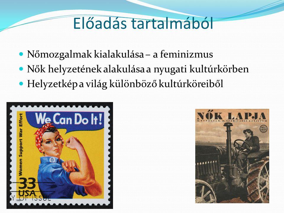 Nőmozgalmak – történelmi háttér Egyenjogúság igénye XVIII.
