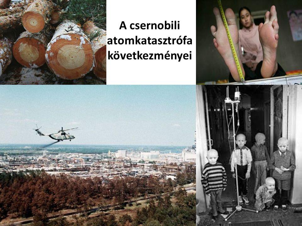 A csernobili atomkatasztrófa következményei