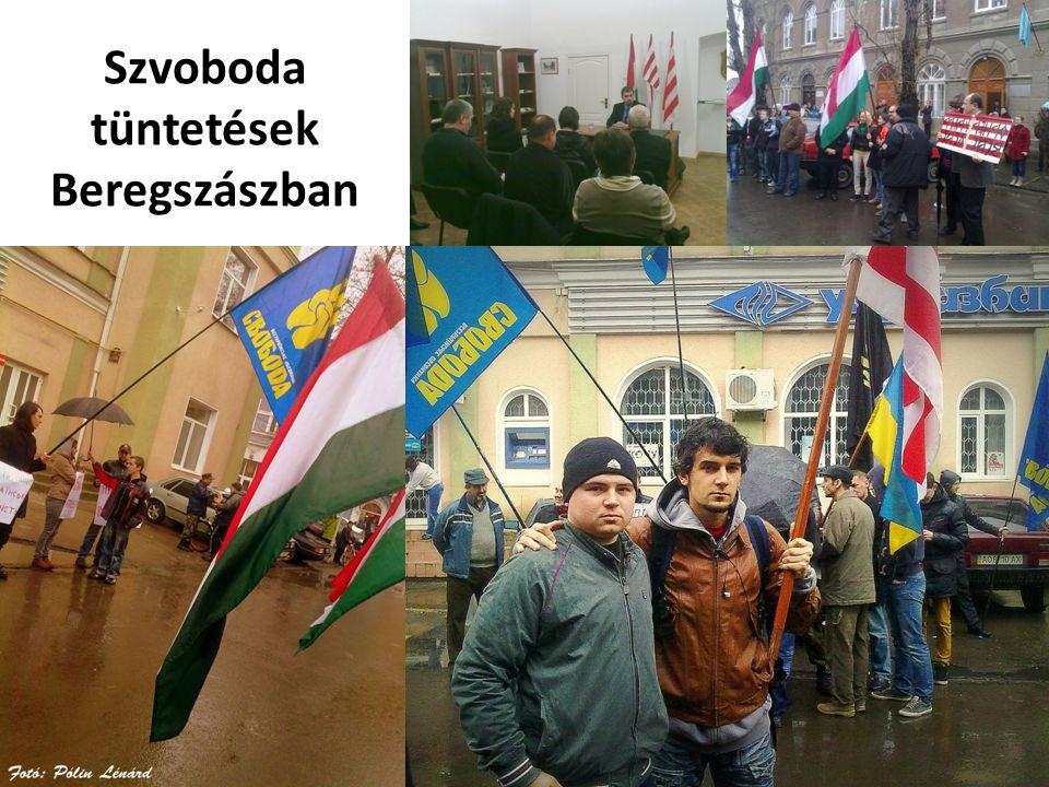 Szvoboda tüntetések Beregszászban