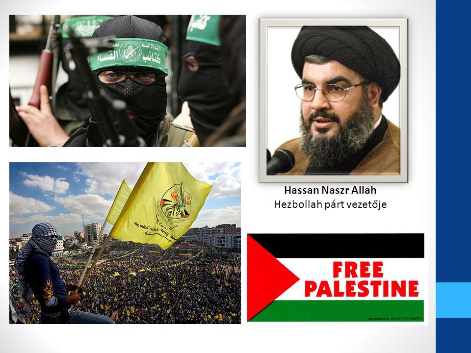 Hassan Naszr Allah Hezbollah párt vezetője