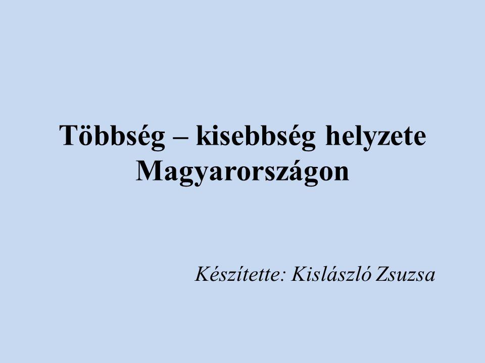 Többség – kisebbség helyzete Magyarországon Készítette: Kislászló Zsuzsa