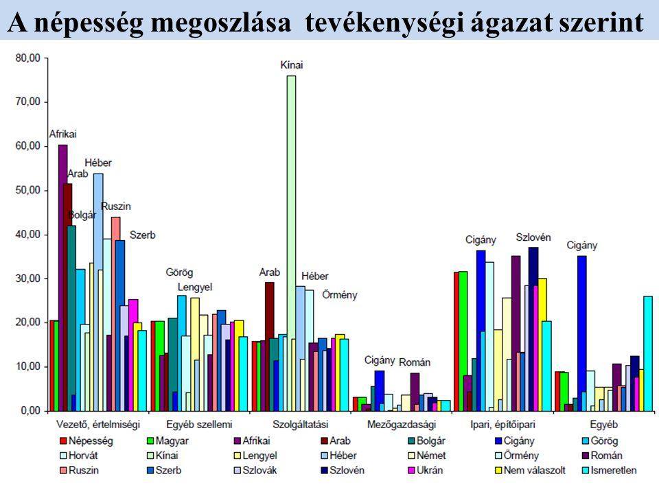 A népesség megoszlása tevékenységi ágazat szerint