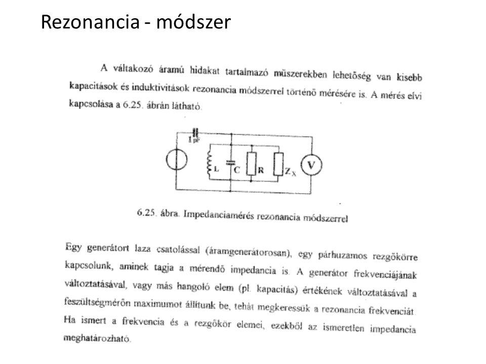Rezonancia - módszer