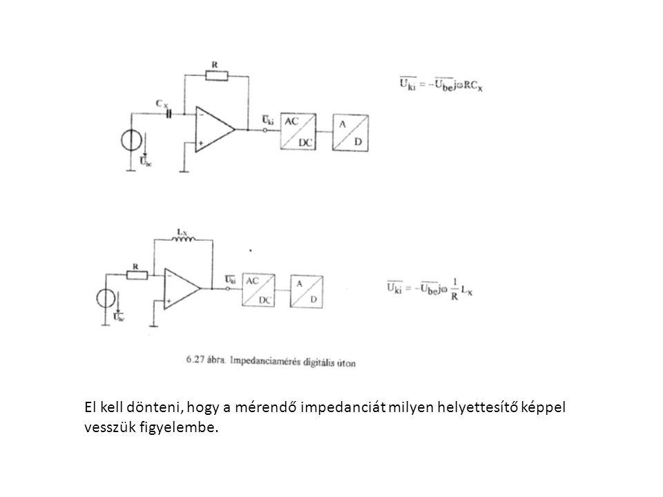 El kell dönteni, hogy a mérendő impedanciát milyen helyettesítő képpel vesszük figyelembe.