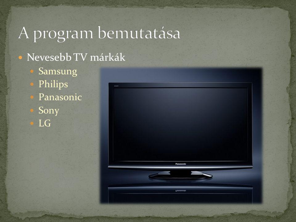 Nevesebb TV márkák Samsung Philips Panasonic Sony LG