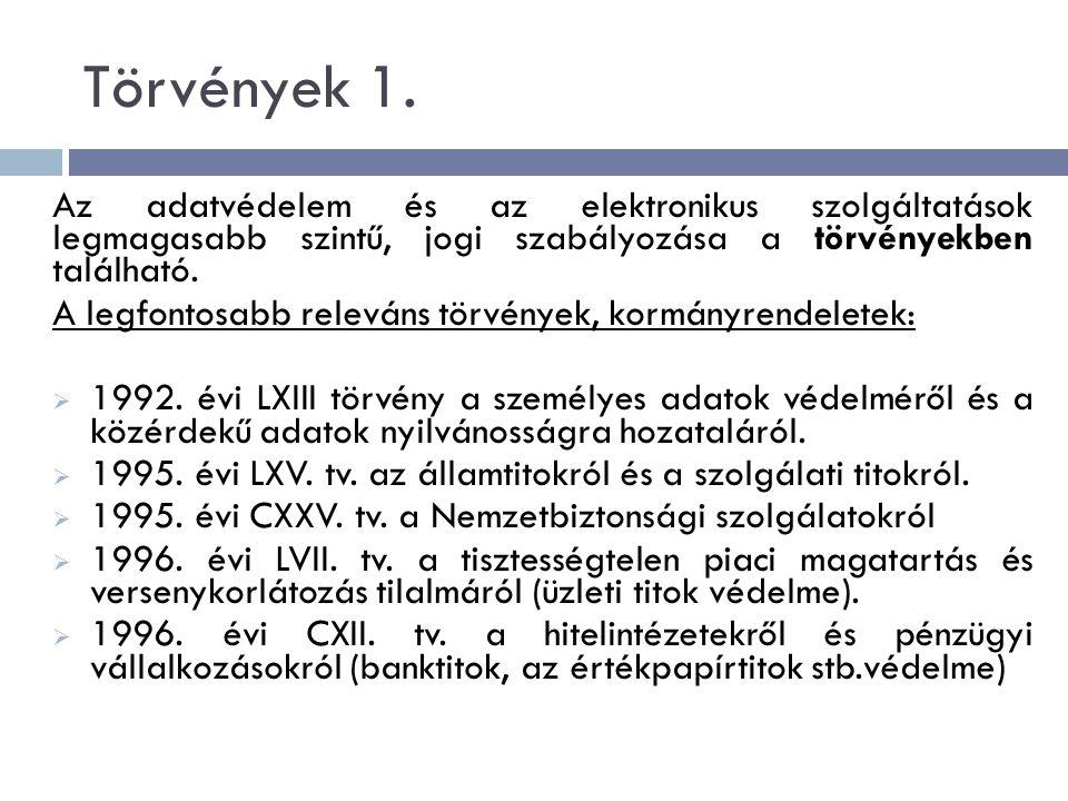 Törvények 1.