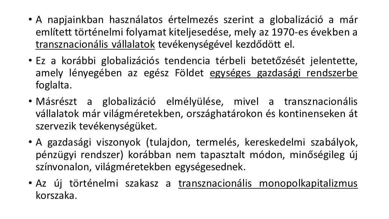 Felhasznált irodalom 1.Bernek Ágnes (szerk.): A globális világ földrajza, Budapest, 2002, (127-150.