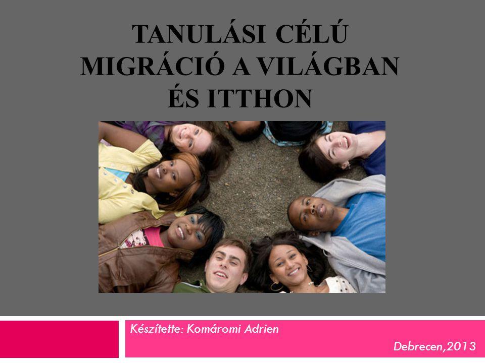 A migráció fogalma : latin eredetű, népességmozgást- népességvándorlást jelent,amely olyan folyamat, ahol az egyed lakhelyet és ezzel együtt társadalmat is vált.