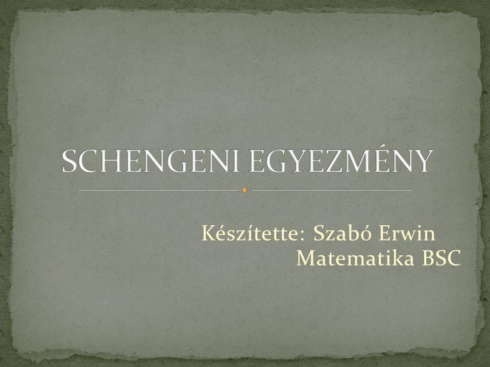 Készítette: Szabó Erwin Matematika BSC