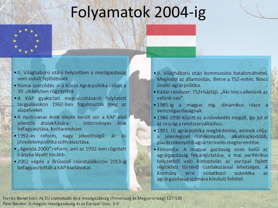 Folyamatok 2004-ig II.