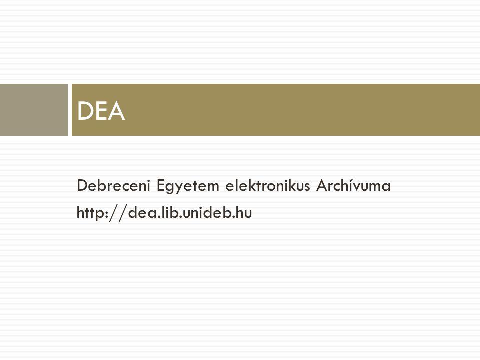 Debreceni Egyetem elektronikus Archívuma http://dea.lib.unideb.hu DEA