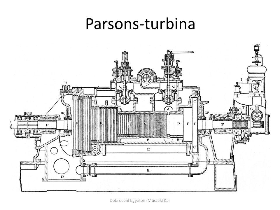 Parsons-turbina Debreceni Egyetem Műszaki Kar