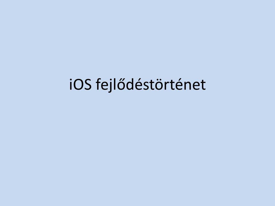 iOS fejlődéstörténet
