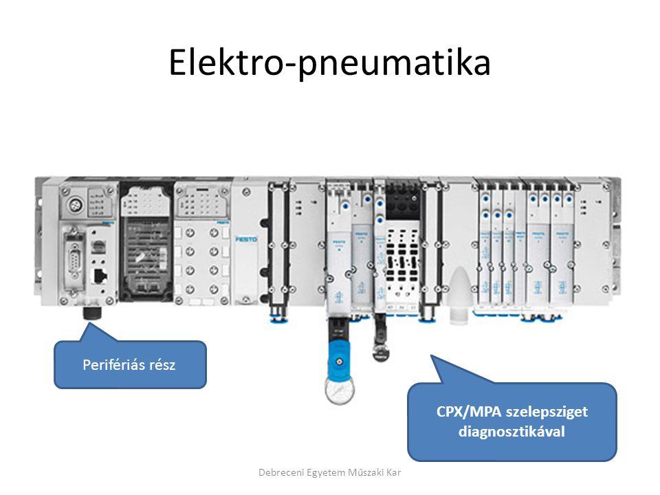 Elektro-pneumatika Debreceni Egyetem Műszaki Kar CPX/MPA szelepsziget diagnosztikával Perifériás rész