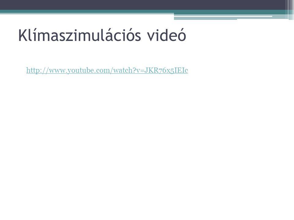Klímaszimulációs videó http://www.youtube.com/watch?v=JKR76x5IEIc