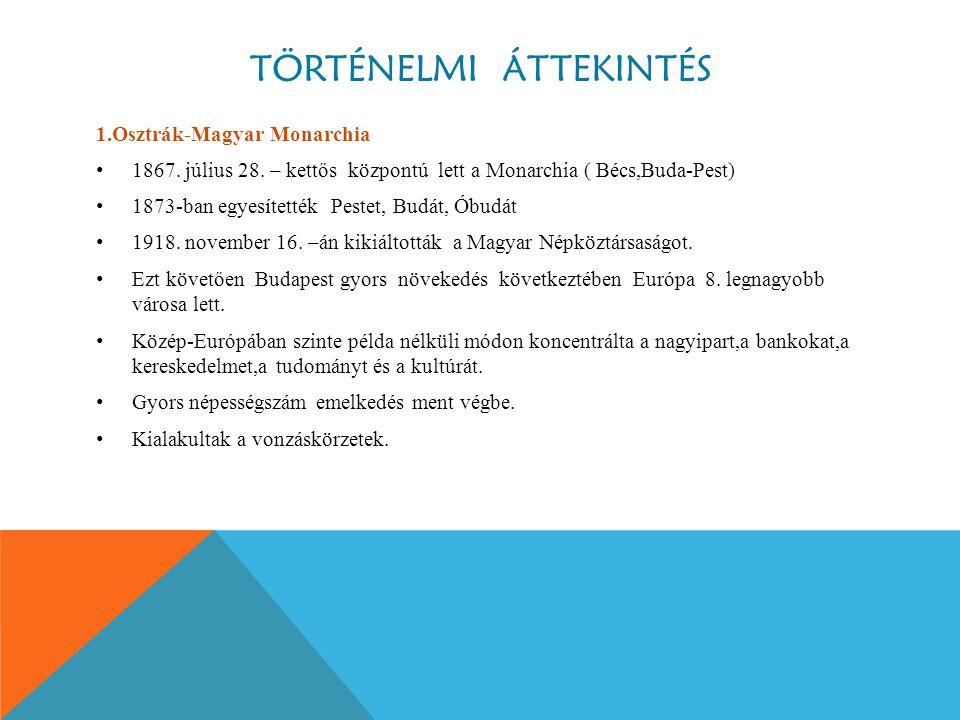 TÖRTÉNELMI ÁTTEKINTÉS 1.Osztrák-Magyar Monarchia 1867.