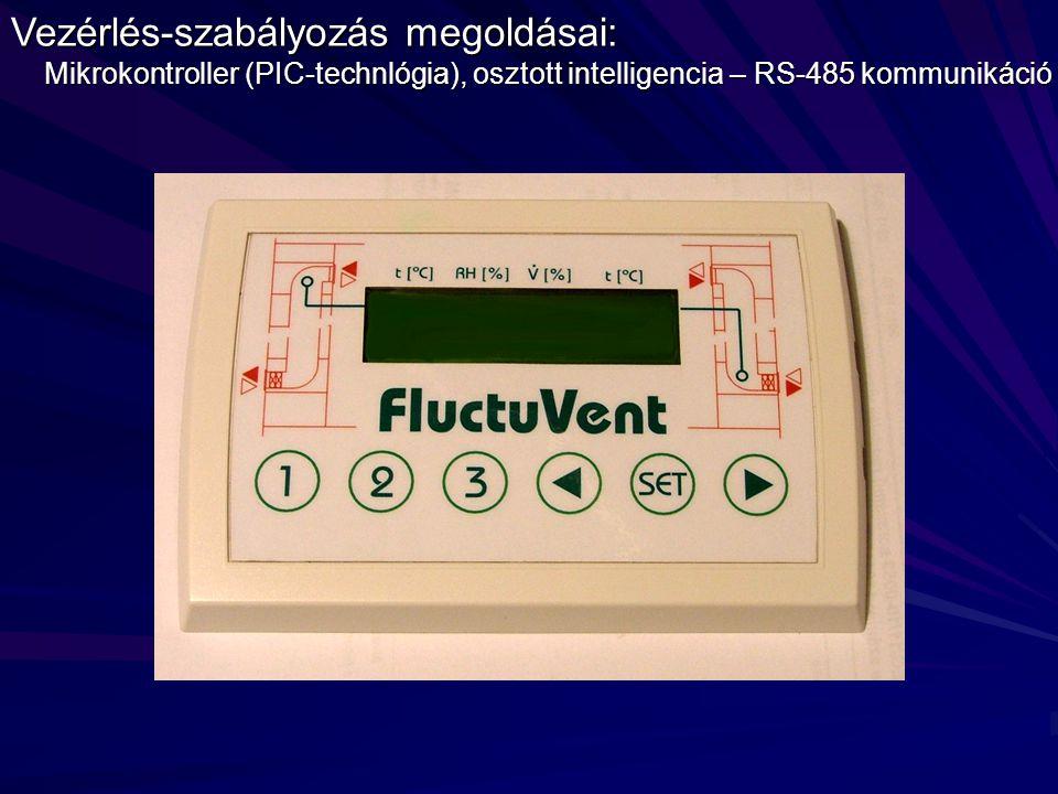 Vezérlés-szabályozás megoldásai: Mikrokontroller (PIC-technlógia), osztott intelligencia – RS-485 kommunikáció Mikrokontroller (PIC-technlógia), osztott intelligencia – RS-485 kommunikáció