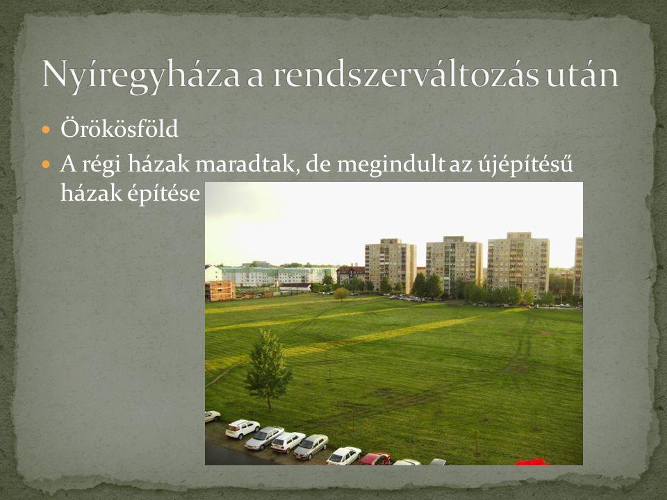 Örökösföld A régi házak maradtak, de megindult az újépítésű házak építése