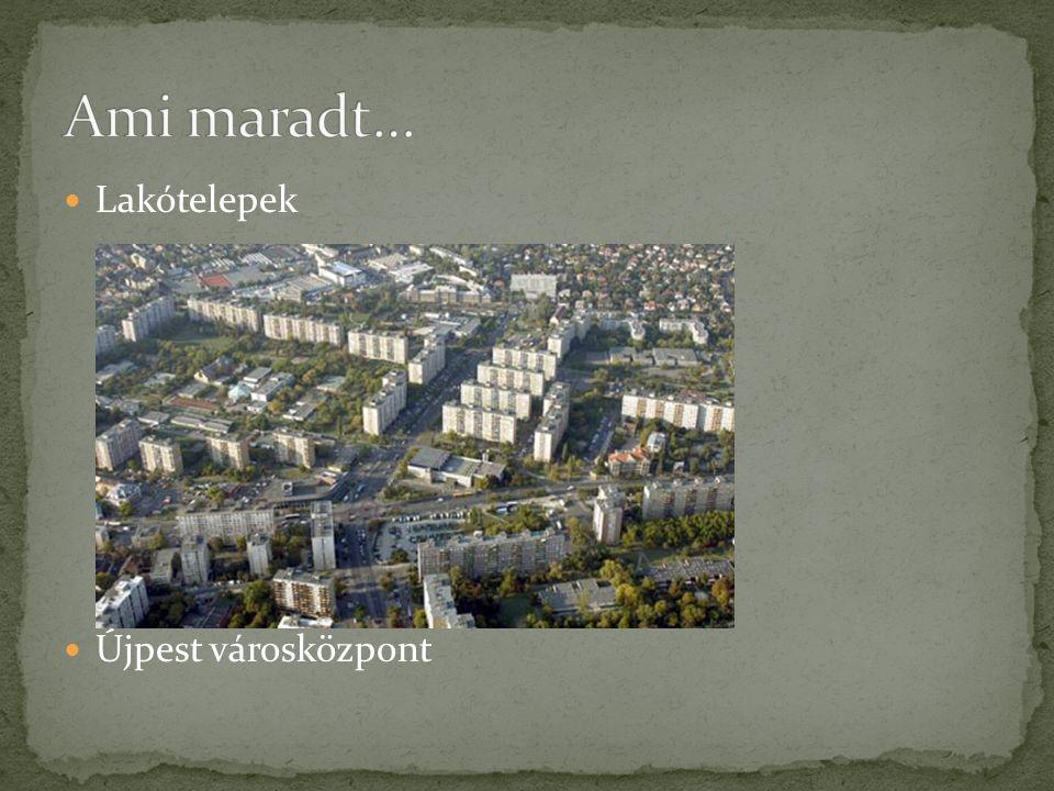Lakótelepek Újpest városközpont