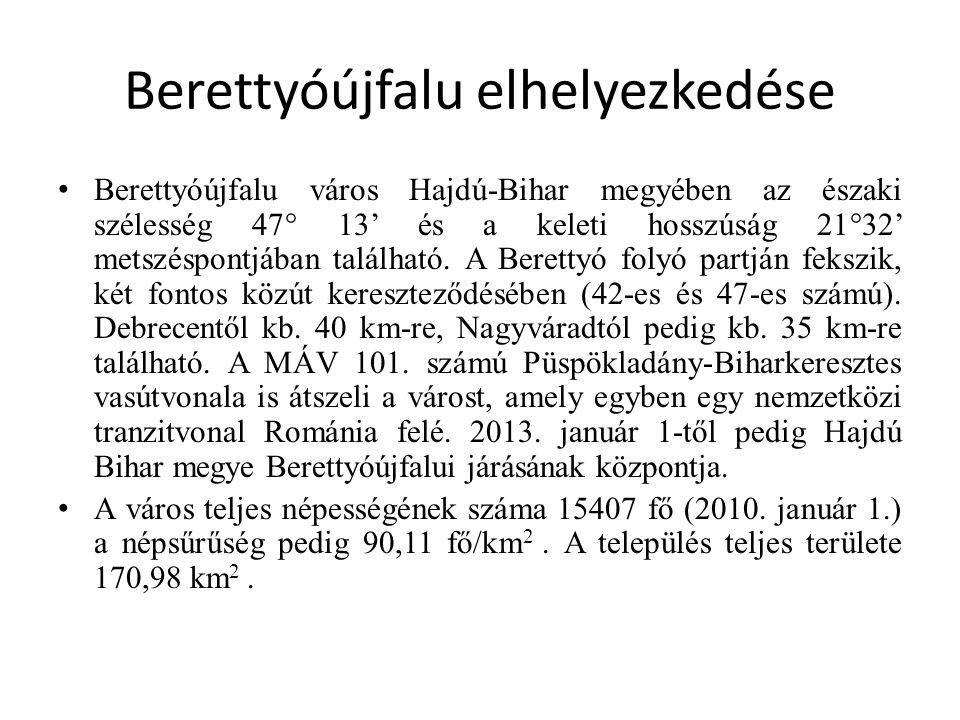 Berettyóújfalu vonzáskörzete Berettyóújfalu, mint kórházváros További települések: Abádszalók, Ecsegfalva, Kunhegyes, Tiszabura, Tiszaderzs, Tiszagyenda, Tiszaroff, Tiszaszentimre, Tomajmonostora.