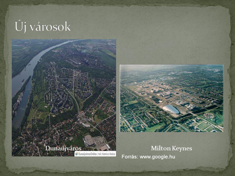 DunaújvárosMilton Keynes Forrás: www.google.hu
