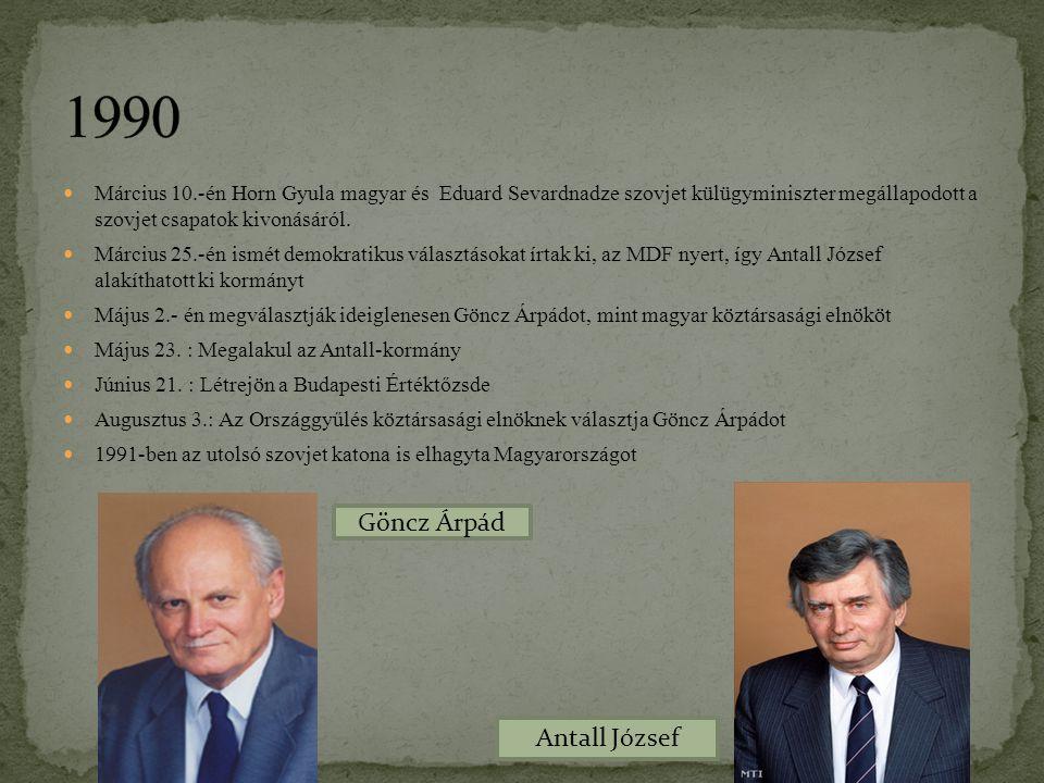 Március 10.-én Horn Gyula magyar és Eduard Sevardnadze szovjet külügyminiszter megállapodott a szovjet csapatok kivonásáról. Március 25.-én ismét demo