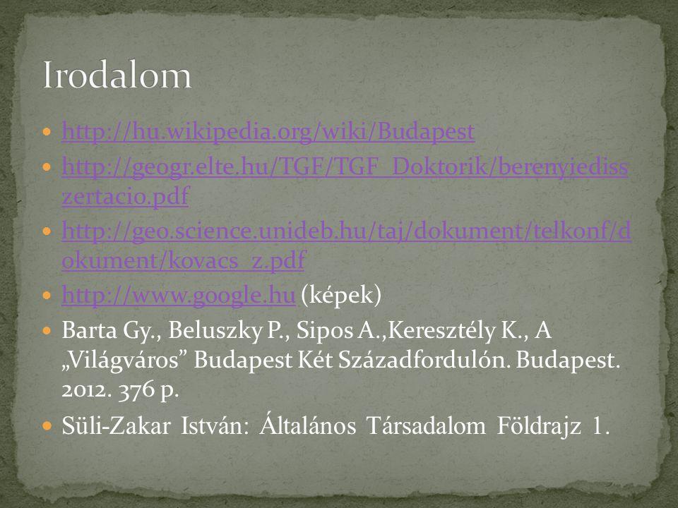 http://hu.wikipedia.org/wiki/Budapest http://geogr.elte.hu/TGF/TGF_Doktorik/berenyiediss zertacio.pdf http://geogr.elte.hu/TGF/TGF_Doktorik/berenyiedi