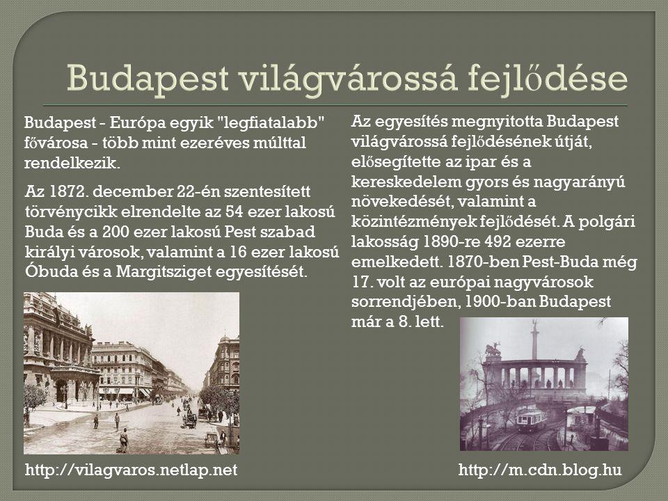 http://vilagvaros.netlap.net Budapest - Európa egyik legfiatalabb f ő városa - több mint ezeréves múlttal rendelkezik.