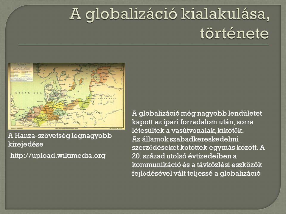 http://homepad.files.wordpress.com -Gazdasági globalizáció -Pénzügyi globalizáció -Személyes kapcsolatok globalizációja -Technológiai globalizáció