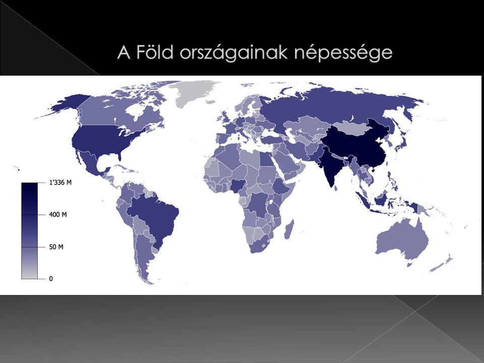  316,8 millió fő  Harmadik legnépesebb ország a világon  A világ népességéből 4,45%-ot tesz ki.