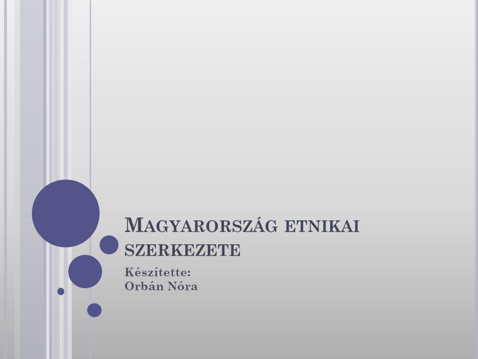 M AGYARORSZÁG ETNIKAI SZERKEZETE Készítette: Orbán Nóra
