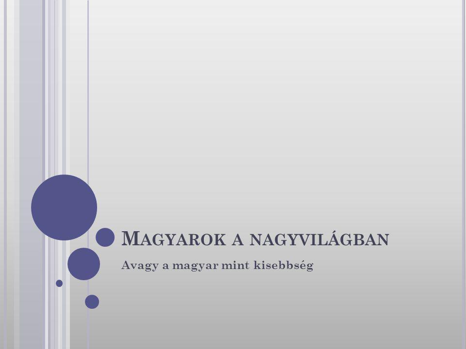 M AGYAROK A NAGYVILÁGBAN Avagy a magyar mint kisebbség