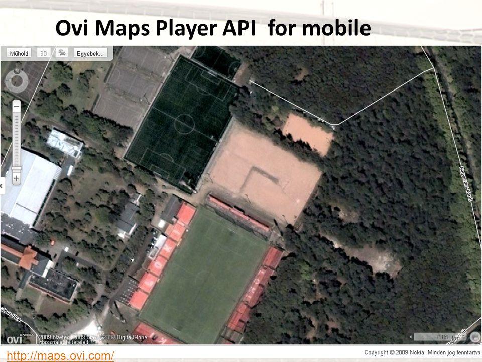 Ovi Maps Player API for mobile http://maps.ovi.com/