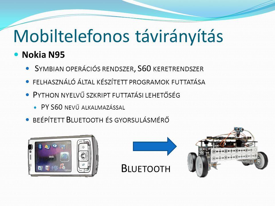 Mobiltelefonos távirányítás Nokia N95 S YMBIAN OPERÁCIÓS RENDSZER, S60 KERETRENDSZER FELHASZNÁLÓ ÁLTAL KÉSZÍTETT PROGRAMOK FUTTATÁSA P YTHON NYELVŰ SZ