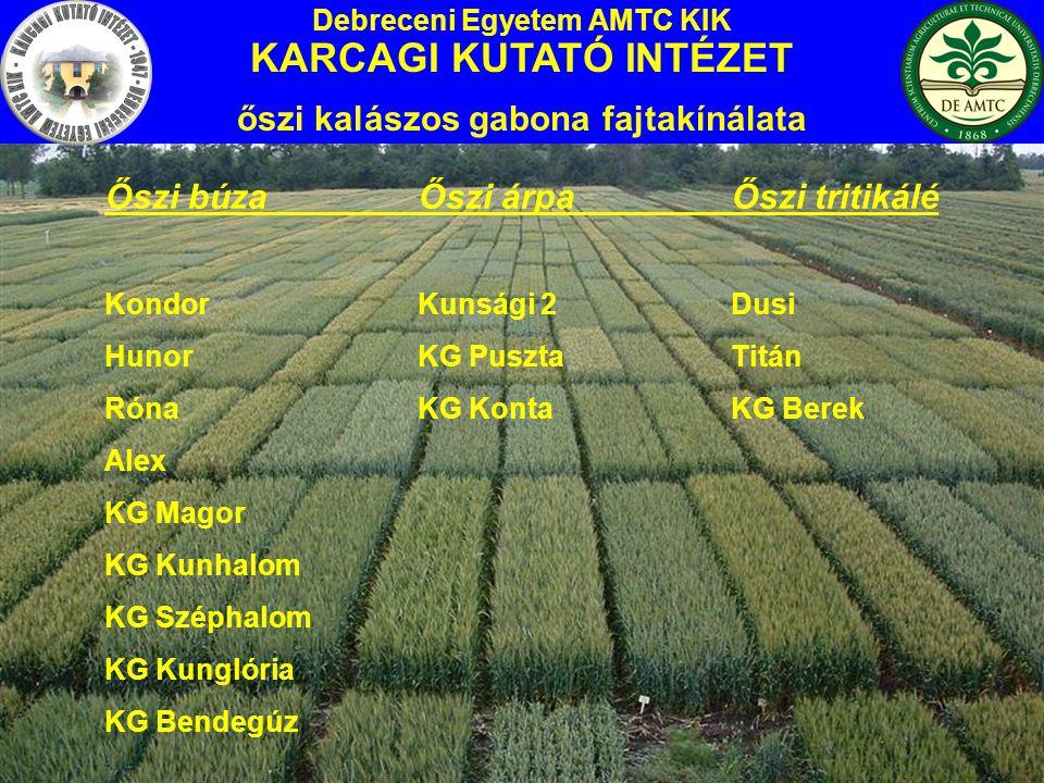 KG Kunglória Minősítve: 2005.Malmi hasznosítású őszi búza fajta.