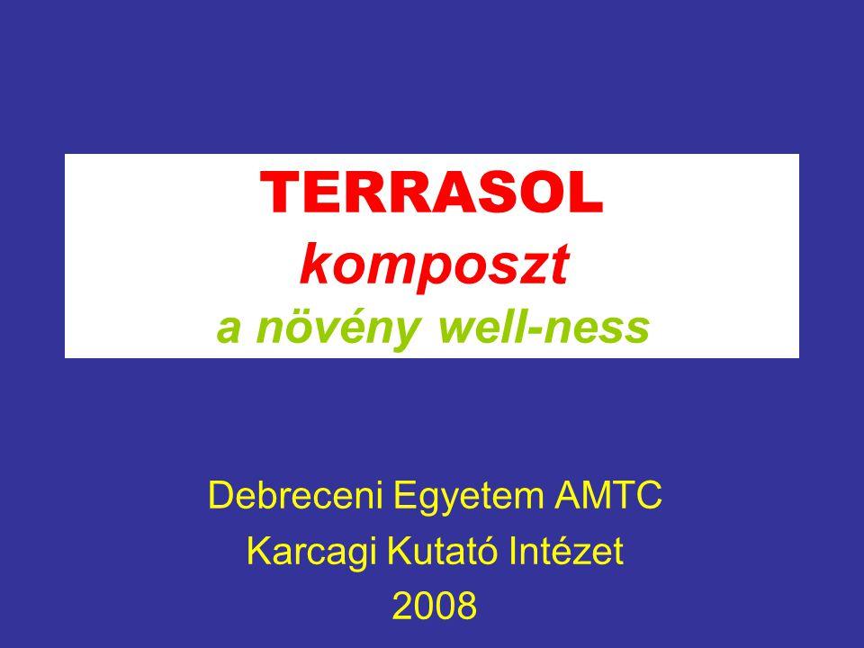 """""""Szerves juhtrágya és biohulladék komposzt- technológiák állategészségügyi és élelmiszerbiztonsági szempontú fejlesztése A GVOP-3.1.1- AKF -2004-05-0127/3.0 3 éves projekt alatt végeredményeként, termékeként a TERRASOL komposztot állítottuk elő."""