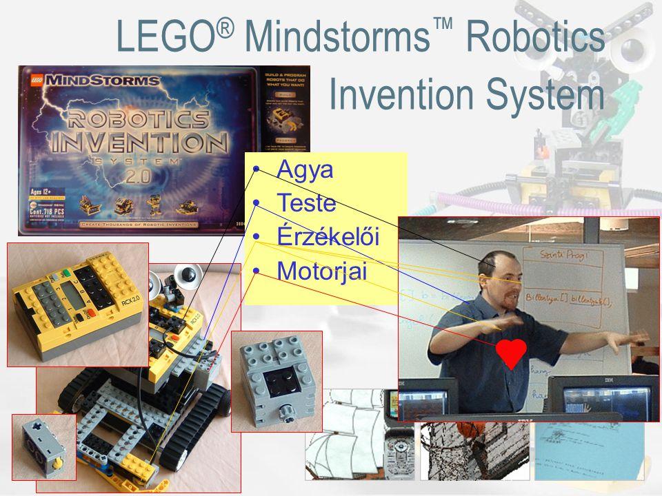 LEGO ® Mindstorms ™ Robotics Invention System Agya Teste Érzékelői Motorjai