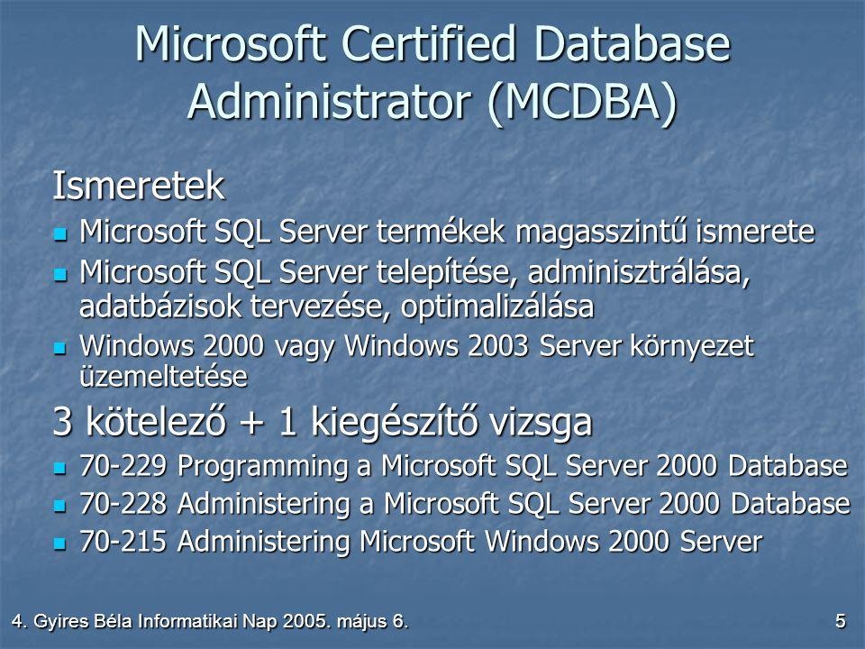 4.Gyires Béla Informatikai Nap 2005. május 6.16 Hálózati lehetőségek 3.