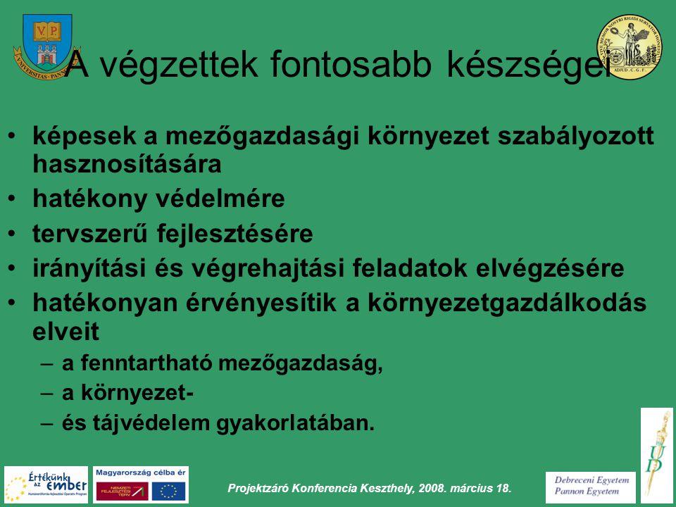 Projektzáró Konferencia Keszthely, 2008. március 18.