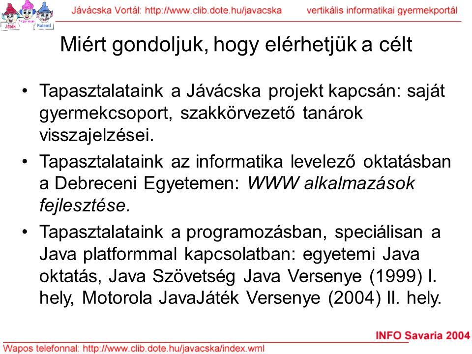 """Az előadás váza A Java platform fogalmainak áttekintése (bn) A Jávácska projekt, speciálisan a Fantasztikus programozás című """"sci-fi tankönyv bemutatása (bn) A napjainkra javasolt, saját """"oktatási platform felvázolása, benne: (bn) –Robotok programozása –Mobiltelefonok programozása –PC-k programozása –A Hálózat programozása Jávácska az iskolán túl és Európában (bme) Felhívás a bekapcsolódásra (bme)"""