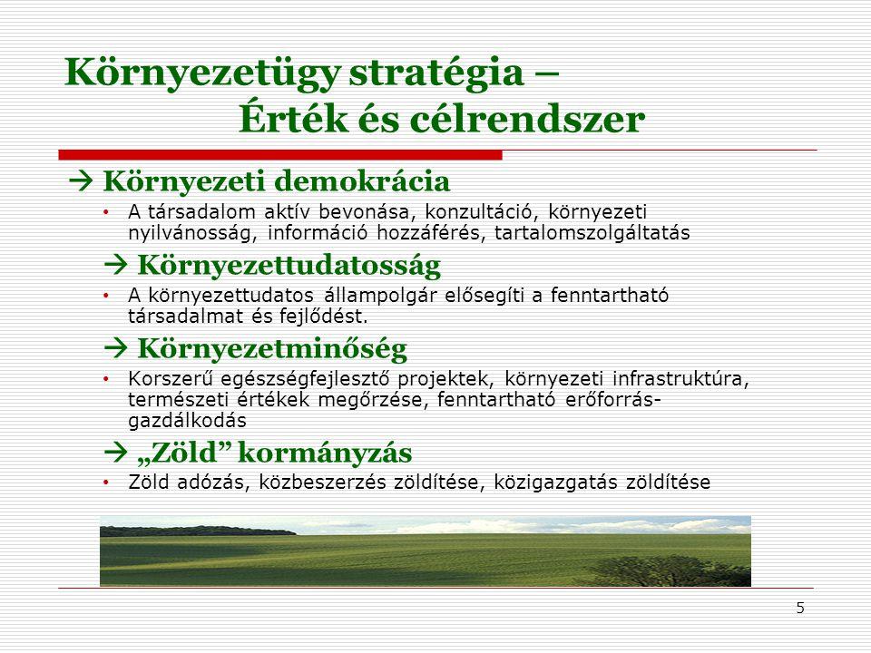 """6 Kiemelt törekvések – a környezettudatosság terén  Zöld szempontok horizontális érvényesítése az oktatásban és szakképzésben  Környezettan erőteljesebb megjelenítése a közoktatásban  Bsc, Msc képzések elősegítése a felsőoktatásban  Civil szervezetek és civil hálózatok bevonása a környezeti etika és a környezeti kultúra terjesztésében  Akcióprogramok és """"mozgalmak"""