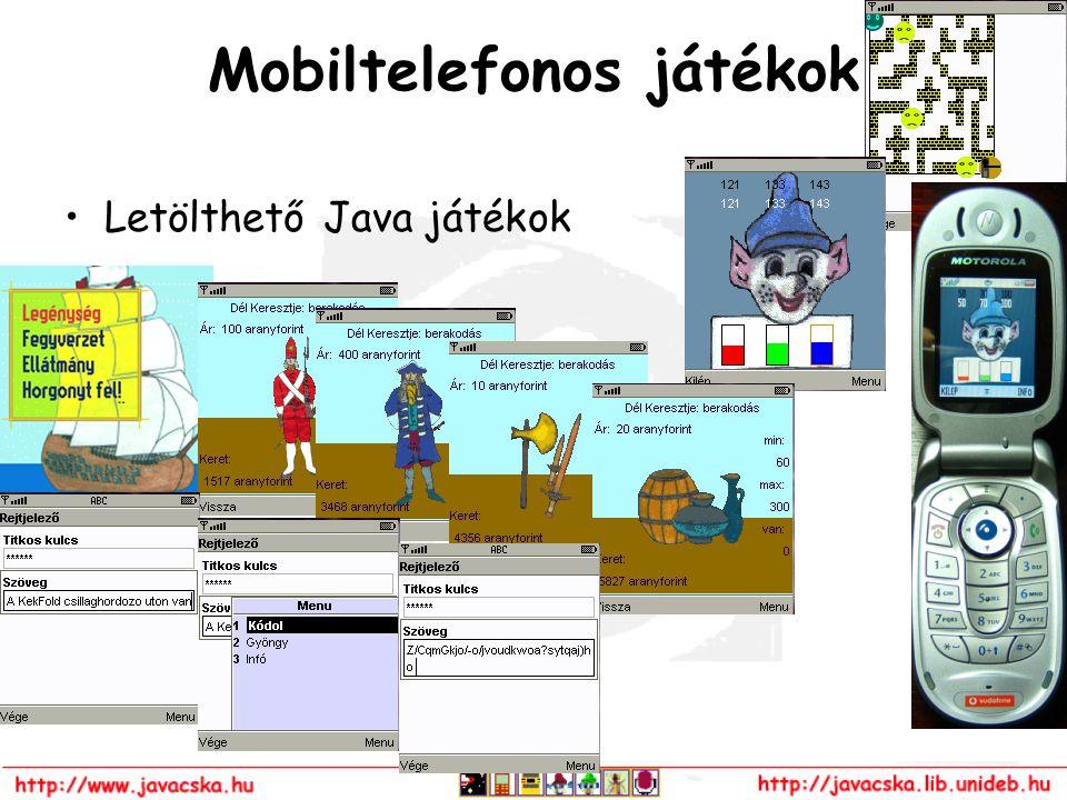 Mobiltelefonos játékok Letölthető Java játékok